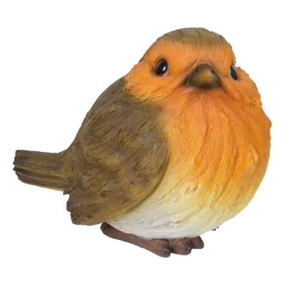 Detailed Wood Life Perching Robin 16cm