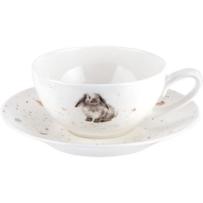 Lightweight Small Rabbit Cup and Saucer