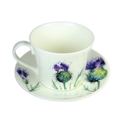 Roy Kirkham Thistle Breakfast Cup and Saucer