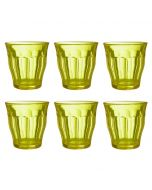 Set of 6 Tumblers in Yellow Glass 250ml from the Picardie Range