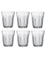 Set of 6 Tumblers Clear Glass 250ml from the Provence Range