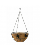 Large Hanging Basket With Perching Birds Design