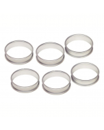 Set of 6 Silver Anodised Crumpet/Egg/Poachette Rings