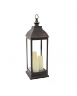 Outdoor Bronze Lantern with 3 Candles