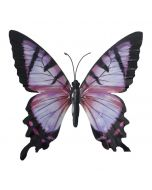 Pink & Black Large Metal Hanging Butterfly Ornament
