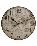 Wooden Wall Clock in World Map Design 60cm