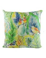 Spring Tropical Lovebirds Design Filled Cushion