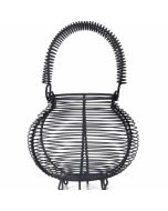 Brompton Egg Basket in Grey Carbon Steel Holds 16 Eggs
