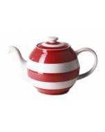 Red & White Stripe Large Betty Teapot, 140cl