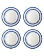 Blue and White Stripe Set of 4 Lunch Plates 26cm