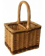 Willow 2 Bottle Carrier Carrying Basket