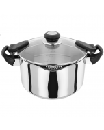 24cm 18/10 Stainless Steel Draining Pot with Easy Drain Side Handles