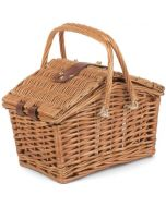"""Traditional Wicker Willow 12"""" Picnic Basket"""