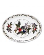 Holly and Ivy Oval Serving Platter