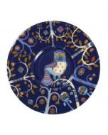 Taika Porcelain Cappuccino Saucer in Blue