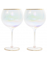 Lustre Ribbed Gin Glass, Set of 2