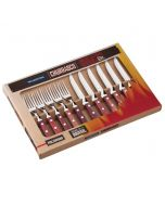 12 Piece Tableware Steak Cutlery Set in Red, Gift Boxed