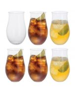 Rum Party Set of 6 Rum Tumbler Glasses Perfect for Mojitos and Rum Cocktails