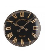 """Westminster Tower Black Outdoor Wall Clock 30cm / 12"""""""