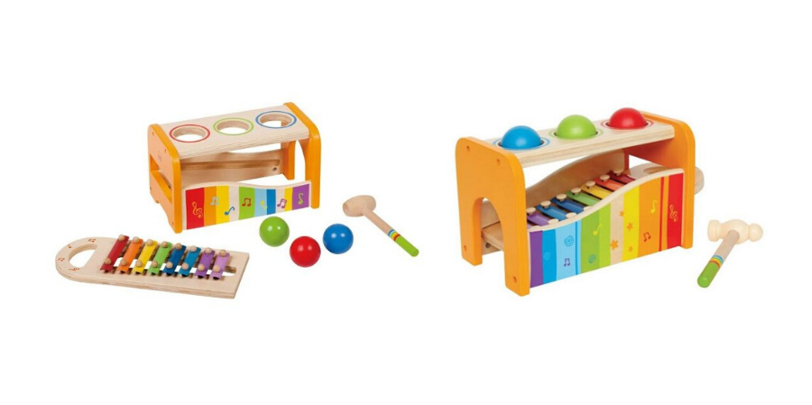 musical pound and tap bench by hape